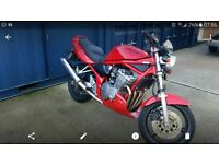 Red Suzuki bandit 600 perfect for a2 includes restrictor kit (not fitted)