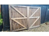 New set of wooden gates.