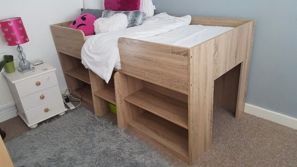 sleeper pine finish pirate mid cabin white in and whitewash with slide bed tent itm under cabins