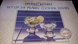 Boxed set of 6 Retro Vintage cocktail dishes