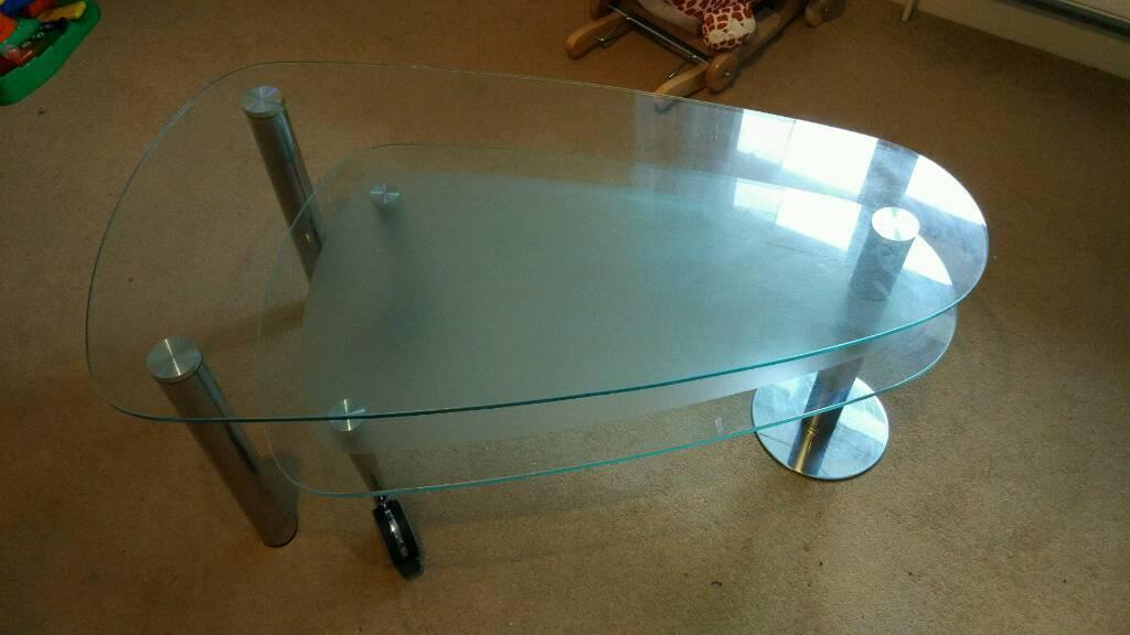 Unusual Glass coffee table