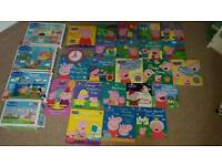 huge peppa bundle....books and jigsaws. u won't be dissapointed!
