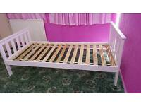 White single bed with free mattress