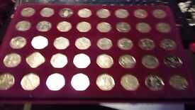 collection of 50p coins