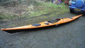 P&H Cetus MV composite sea kayak custom + P&H Spraydeck