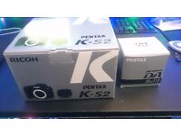 (BRAND NEW) Pentax K S2 DSLR camera with FREE extra lens and battery