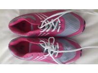 Ladies trainers, size 7 pink and grey unworn