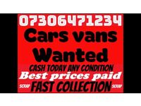 ☎️ WANTED CAR VAN CASH TODAY ANY CONDITION SELL MY SCRAP DAMAGED NO MOT
