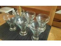 Set of 6 sundae glasses