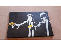 Banksy Style Canvases