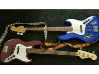 2 fender guitars