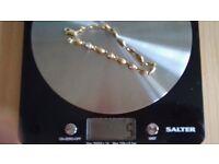9 carat bi colour gold bracelet with tiny diamonds