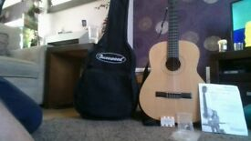 burwood acustic guitar with accseseries