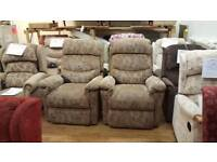 La Z Boy Newark Dual Motor Riser Recliner Chair, Two Available