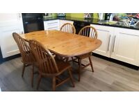 Farmhouse Dinning Table and Four Chairs