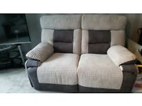 SCS LORD 2 SEATER SOFAS - 1 POWER/ELECTRIC RECLINER & 1 MANUAL RECLINER