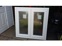 White Wooden Double Glazed Windows x 2 (selling seprate or together)