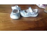Clarks Silver girls shoes