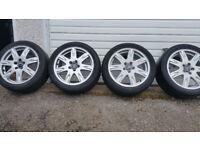 Volvo Genuine 17 alloy wheels + 4 x tyres 225 45 17