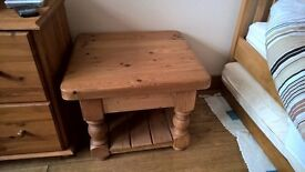 Pair of solid pine antique side tables in very good condition