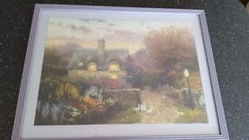 Jigsaw cottage garden picture. Professionally framed.