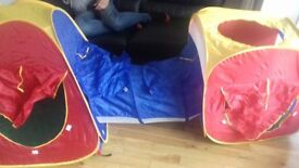 3 piece Play Tents & Tunnel