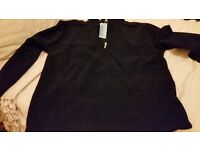 Navy men's half zip up top new with tags xl