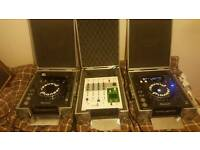 Pioneer cdj mk3s 1000 and KORG mixer with built in kaoss pad