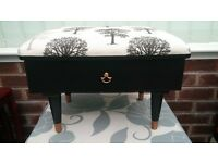 Upcycled retro sewing box stool