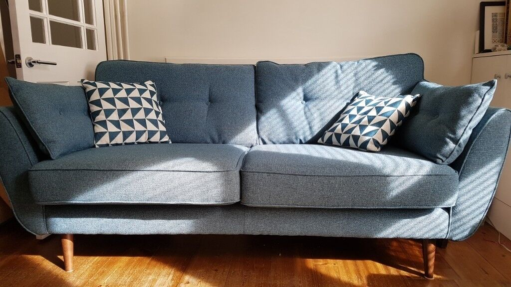 French Connection Zinc Sofa 3 Seater
