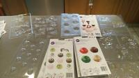 assorted candy, chocolate and lollipop molds