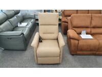 CareCo Milano Rise & Recliner Armchair Brown Fabric Single Motor Can Deliver