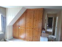 x2 Pine bedroom wardrobes