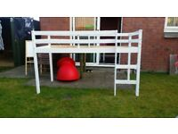 Childs White Mid-Rise Bed