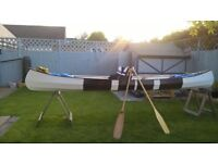 Canadian canoe hand built 15foot approx