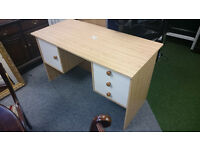 Large Desk with drawers and cupboard Computer Vanity Dressing