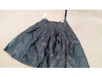 Black leather skirt from mossaic. size 10
