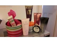 Various body lotions