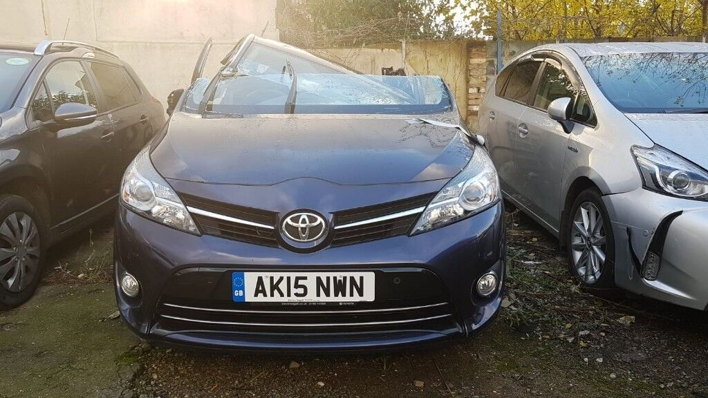 breaking 2015 toyota verso all parts available salvage breakers bumper  lights headlights new shape