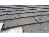 Large concrete roof tiles 18' x 18'