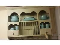 Kitchen plate rack with draws painted in farrowing and ball