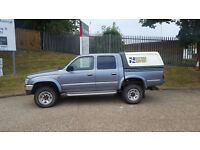 1998/S Reg Toyota Hilux 2.4 TD (Turbo Diesel) Double Cab (Rear Truck Top) + Grey +