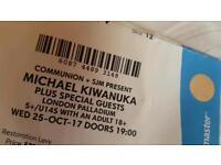 TONIGHT: 2x Michael Kiwanuka tix
