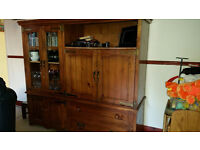 Solid Pine Entertainment Cabinet and Coffee Table