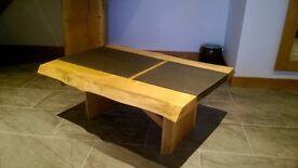 solid ok/slate coffee table