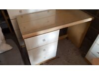 Desk (glass surface on top)
