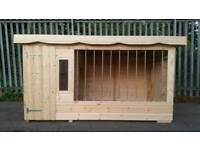 Brand new Deluxe extra large dog kennel and run with galvanised bars and fancy trim RRP £1100