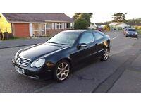 Mercedes C230 Kompressor Coupe petrol auto 2001