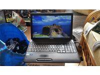 Toshiba satellite rpo c650 windows 7 250g hard drive 6g memory wifi charger webcam