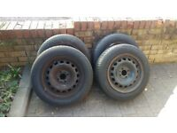 4x fiat punto 4 stud wheels 165/70/14